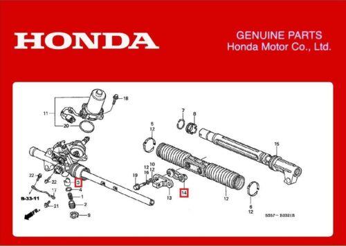 Genuine HONDA Steering Rack Slider guide Integra Type R DC5