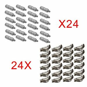 48PCS-Valve-Lifters-Lash-Adjusters-amp-Rocker-Arm-For-05-14-Ford-Mustang-4-6L-5-4L