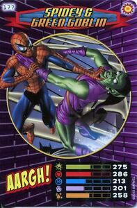 Spiderman Heroes And Villains Card #177 Spidey /& Green Goblin