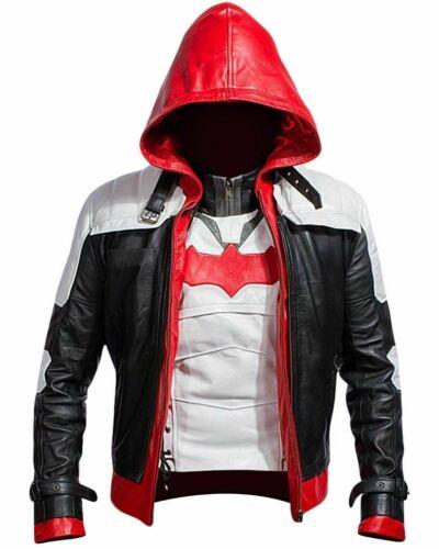 RED HOOD LEATHER JACKET /& VEST BATMAN ARKHAM KNIGHT GAME COSTUME