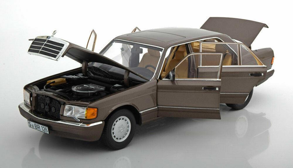 Noriev 1985 Mercedes 560 SEL w126 Color marrón claro 1  18  Nuevo ¡Noriev 1985 Mercedes 560 SEL w126 Color marrón claro 1  18  Nuevo