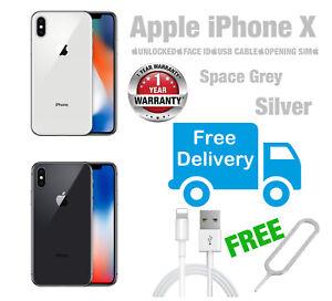 Apple-iPhone-X-64GB-256GB-Space-Grey-Silver-UNLOCKED-Various-Grades