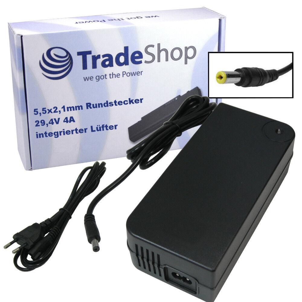 24v EBike Pedelec Batteria autoicabatterie rapido 4a 29,4v con 5,5x2,1mm connettore tondo