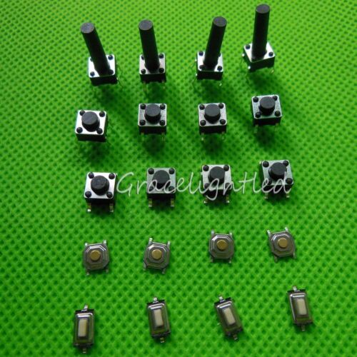 50-1000pc Momentary Tact Push Button Switch SMD/DIP 3x6x2.5 4x4x1.5 6x6x5 6x6x15