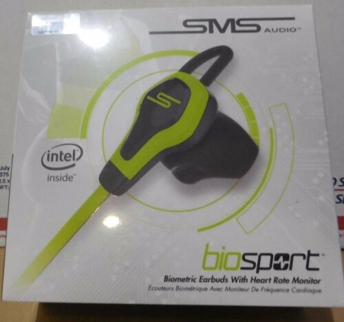 SMS Audio biosport Biometric Earbuds With Heart Rate Monitor Yellow color ( New)