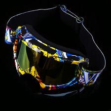 Adult Motorcycle Helmets Goggles MX Riding Dirt Bike Ski Eyewear Glasses Anti-UV