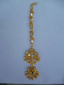 bb5ef125beb Image is loading Kundan-Tikka-Indian-22K-Gold-Plated-Tikli-Beautiful-