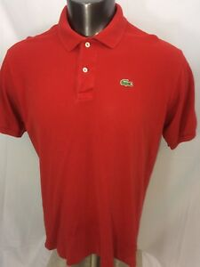 Lacoste-Red-Short-Sleeve-Croc-Polo-Shirt-Size-6