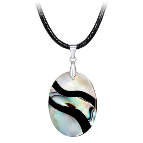Women Girl Fashion Natural Abalone Shell Bead Pendant Necklace Gift Neck Jewelry