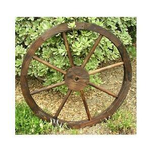 Image Is Loading Wooden Wagon Wheel Trellis Rustic Distressed Western Garden