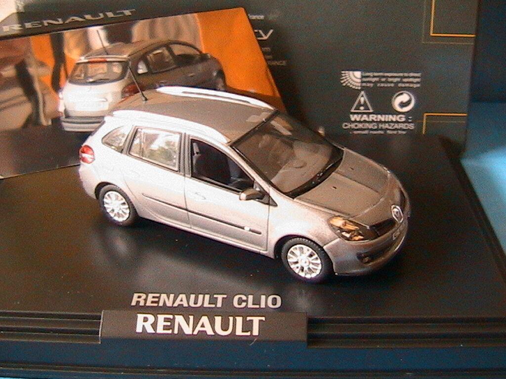 RENAULT CLIO 3 ESTATE 2008 gris CASSIOPEE NOREV 1 43 2007 PHASE TROIS + MIROIR