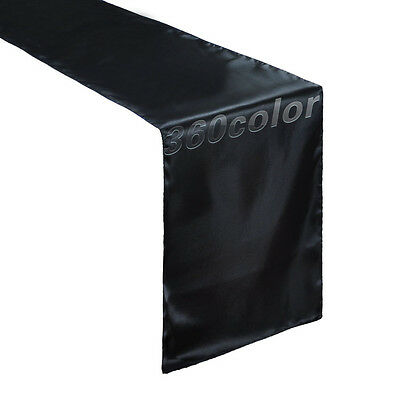 """Satin Table Runners Wedding Party Event Banquet Supply Decoration 12"""" x 108"""""""