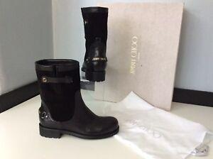 Jimmy-Choo-Dante-Womens-Ankle-Boots-Uk-3-Eu36-Black-Leather-Rrp-695