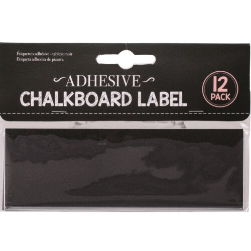 12 x 15cm Self Adhesive Chalkboard Labels Stickers Blackboard Jar Decal Craft