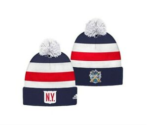 38933b51a Details about New York Rangers adidas Mens 2018 Winter Classic Cuffed Pom  Players Knit Hat