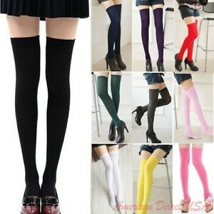 01fc96450 Women Cable Knit Extra Long Boot Socks Over Knee Thigh High School ...