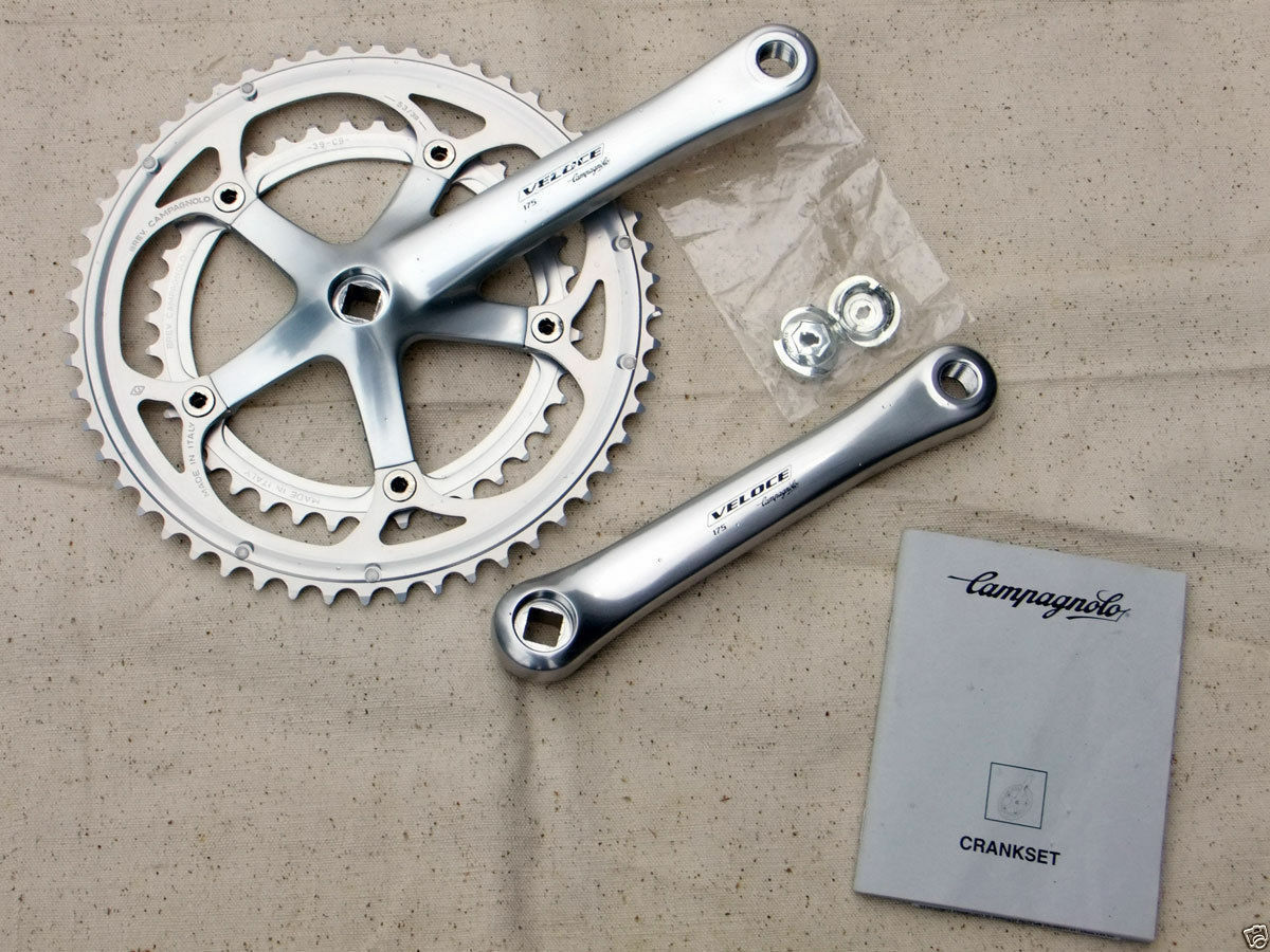 NOS CAMPAGNOLO VELOCE 10 speed crankset 175mm, 53-39 tooth