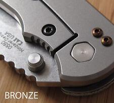 Zero Tolerance ZT0550 560 801 ZT Knives Pocket Clip Titanium Screws Set - BRONZE