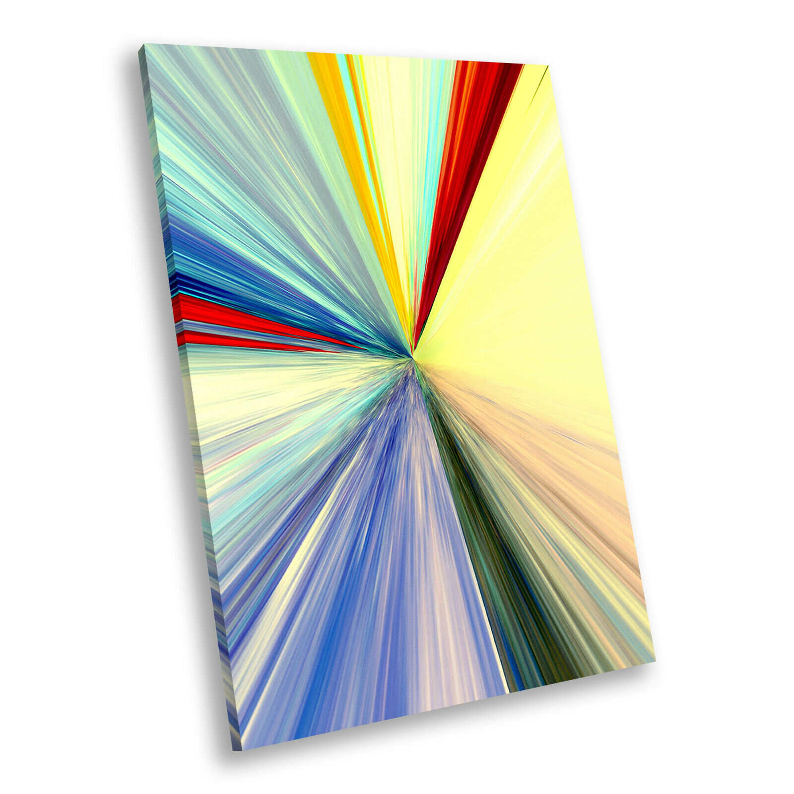 rot Blau Cool Portrait Abstract Canvas Wall Art Large Picture Prints