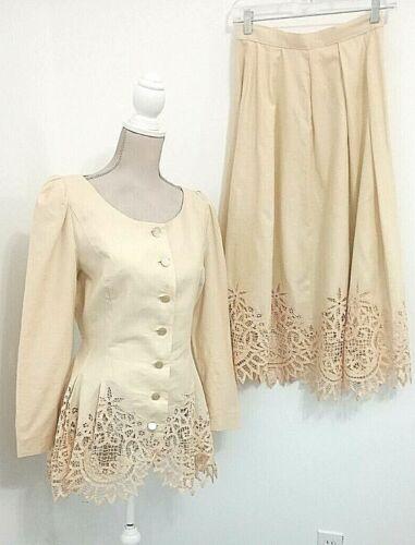 Women's Vintage Marie St. Claire 4 Linen Cotton T… - image 1