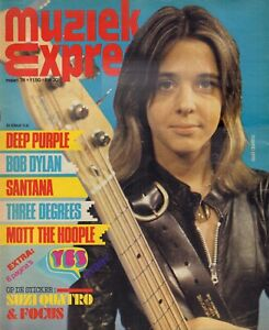 MAGAZINE-MUZIEK-EXPRES-MAART-1974-SUZI-QUATRO-DEEP-PURPLE-DAVID-BOWIE-YES