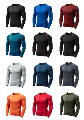 Tesla Sport Compression Fleece Top YUD34 Winter Underlayer T-Shirt Tee Shirt