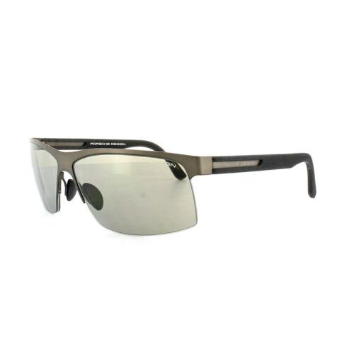 Porsche Design Sunglasses P8561D D V723 Chocolate Brown Black Grey