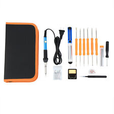 19pcs 60w Electric Soldering Iron Welding Tool Kit Withcase 110v Samger New Us