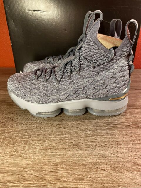Nike Lebron 15 GS City Edition Wolf Grey Basketball Shoes 922811 ...