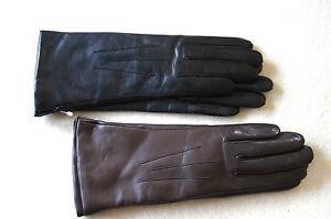 edle gef tterte lederhandschuhe handschuhe damen echtes. Black Bedroom Furniture Sets. Home Design Ideas