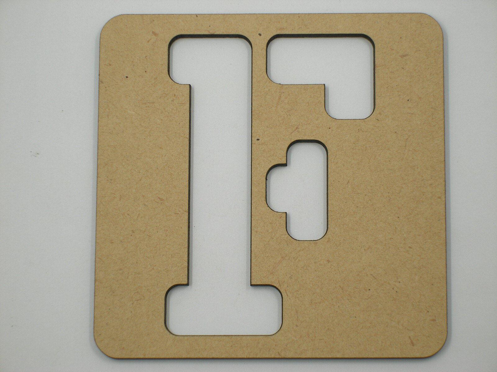 1.8mm x 25cm Large Wooden Letter Stencil Letters Alphabet Name Home Decor STE