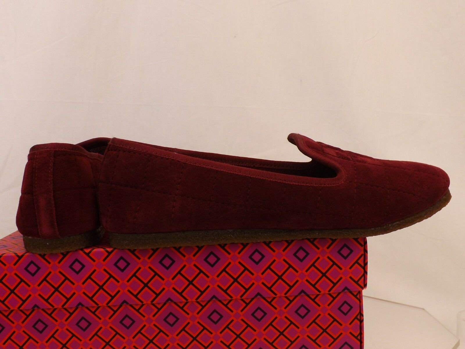 NIB TORY BURCH COWLEY PORT ROYAL QUILTED SUEDE SUEDE SUEDE REVA LAMB FUR SMOKING SLIPPERS 8 833a97