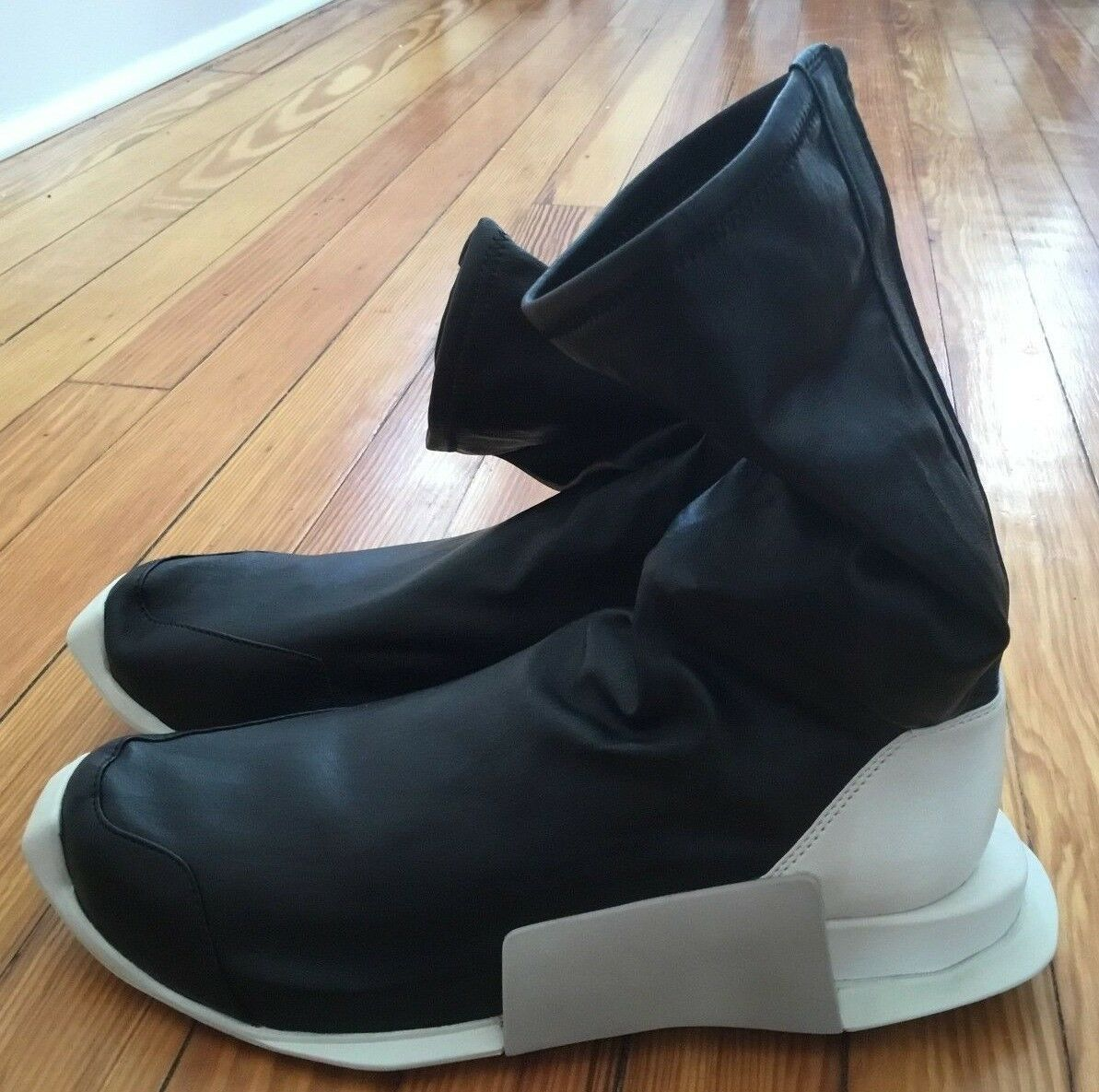 Adidas Rick Hi Owens Level Runner High Hi Rick BY2932 Hombre zapatilla leather boot SZ 9.5 3c0af3