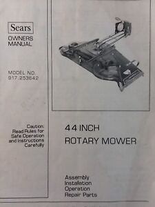 Details about Sears Suburban Lawn Garden Tractor 44 Mower Deck Owner &  Parts Manual GTV GT6000