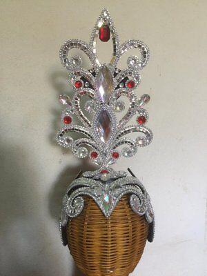 010# Handmade Shiny Elegant Bird  Crown Headdress Costume Showgirl Cabaret