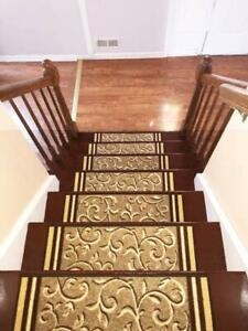 Details About Set Of 14 Non Slip Carpet Stair Treads 8 5 X 26 Rugs For Stairs F Beige