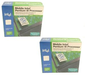 Lot of 2 New Vintage Mobile Intel Pentium III Processor M 933MHz 133MHz FSB