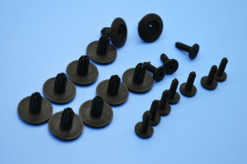 10XLAND ROVER DISCOVERY BLACK PLASTIC RIVET TRIM PANEL RETAINER FASTENERS CLIPS