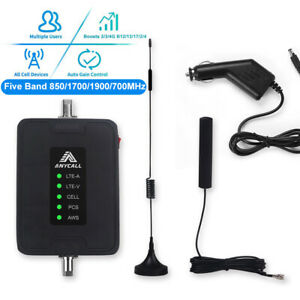 GSM-3-4G-LTE-850-1700-1900-700MHz-Car-Cell-Phone-Signal-Booster-for-AT-amp-T-Verizon
