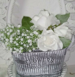 Vintage Pflanzschale Flowers & Garden Topf Blumentopf Shabby Chic ...