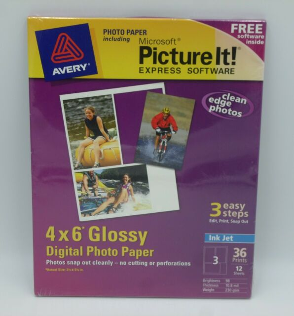 Avery Ink Jet 4 X 6 Glossy Digital Photo Paper 12 Sheets