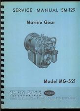 Rare Original Factory Marine Gear MG 521 Boat Transmission Service Manual SM 129