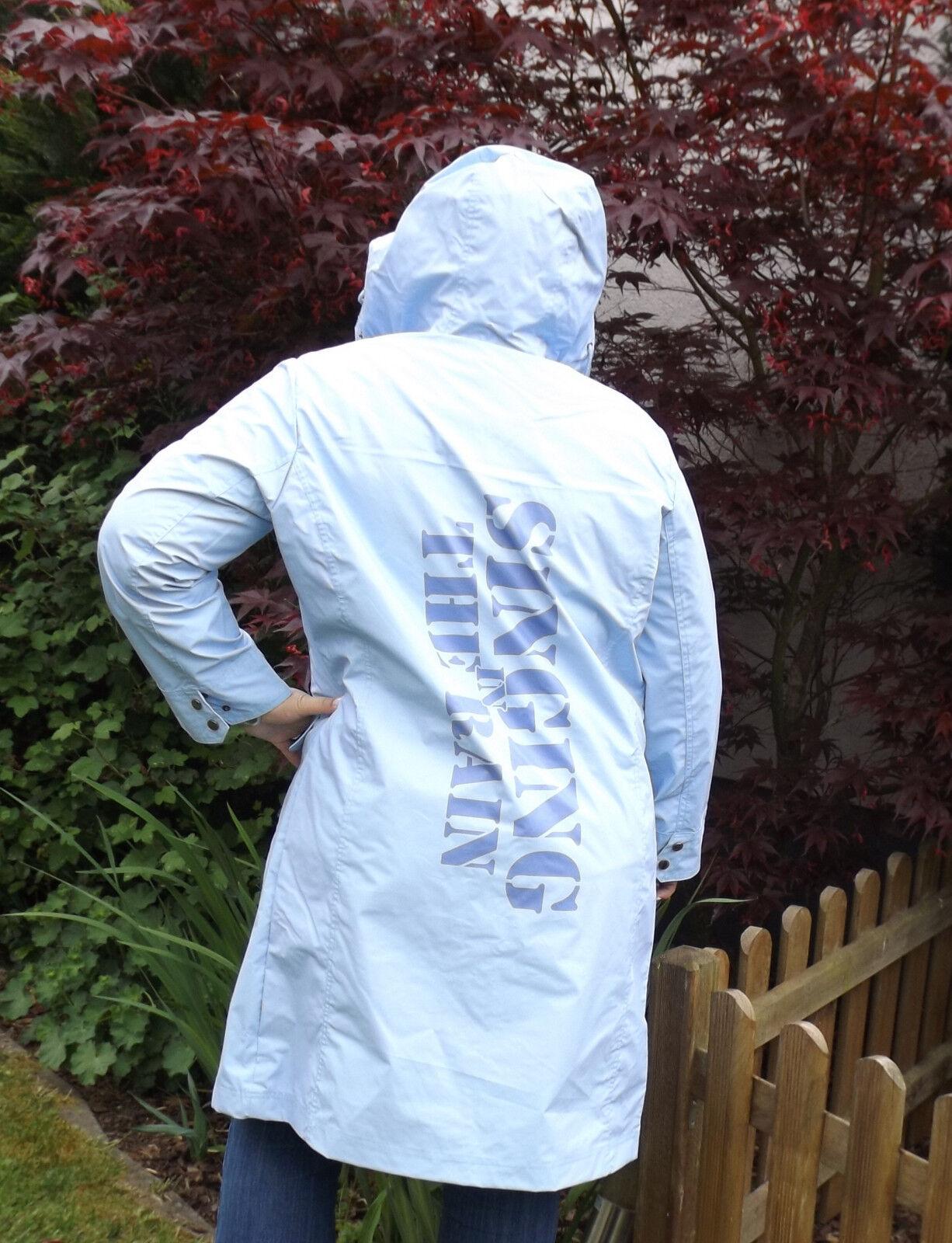 TRU RAIN   XS hellblau  Friesennerz  Raincoat  Regenmantel  Damen Regenjacke