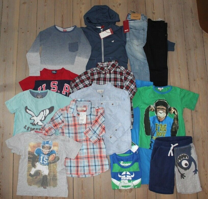 Blandet tøj, Lækker tøjpakke med flere nye ting, dreng str