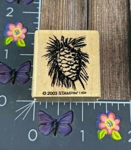Stampin' Up! Pinecone Rubber Stamp 2003 Wood Mount #C160