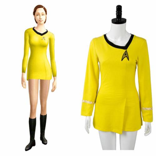 Star Trek TNG Female Duty Uniform Halloween Cosplay Costume Party Dress