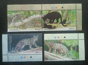 SJ-Endangered-Big-Cats-Malaysia-2013-Tiger-Leopard-Wildlife-stamp-color-MNH