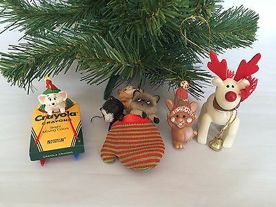 Christmas Hanging Ornaments Cat Kitten Mice Mouse Reindeer Holiday Tree Decor