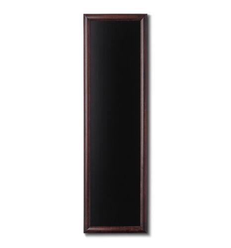 40x120 cm abgerundeter Rahmen dunkelbraun Kreidetafel Holz