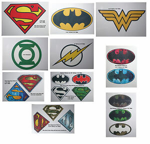 Superhero logos temporary tattoos batman superman green for Superhero temporary tattoos